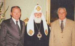 Л. Кучма, Ф. Денисенко и Л. Кравчук