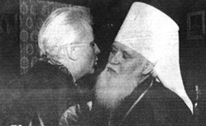 Л. Кравчук и митр. Филарет (Денисенко)