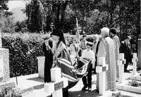 Панихида на русском кладбище в Лиенце