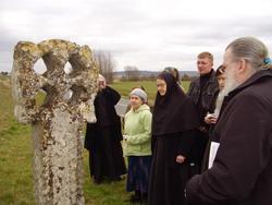 12.Молебен у древнеправославного кельтского креста VI века