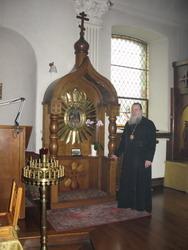 С Хранительницей Леснинского монастыря