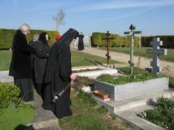 3.Панихида на могиле Архиепископа Серафима Брюссельского и Западно-Европейского